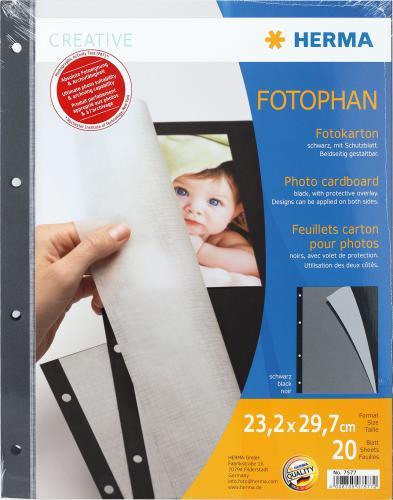 Herma Album Photo Carton black 20 Sheets 7577