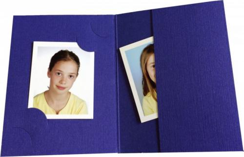 Daiber 1x100 Daiber Folders , blue for passport pictures, 3 sizes