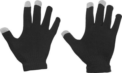 Hurtel Uniwersalne zimowe rękawiczki do ekranów dotykowych czarny uniwersalny
