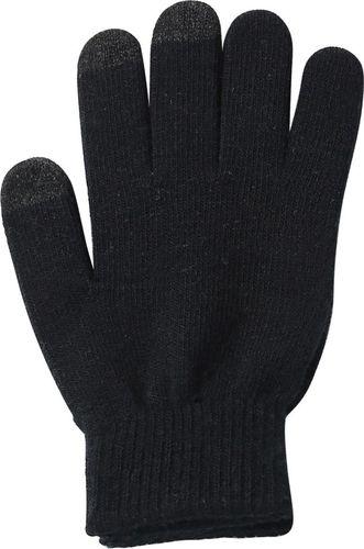 Hurtel Uniwersalne zimowe rękawiczki do ekranów dotykowych antypoślizgowa faktura czarny uniwersalny