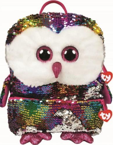 TY TY Fashion Sequins duży cekinowy plecak OWEN - sowa 95044 TY