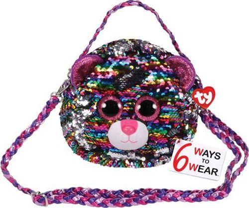 TY TY Fashion Sequins DOTTY - cekinowa torba na ramię leopard 95124
