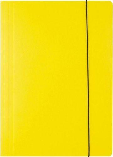 D.Rect Teczka kartonowa z gumką A4 żółta