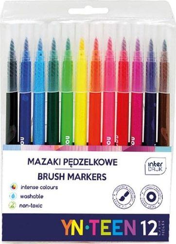Interdruk Mazaki pędzelkowe 12 kolorów YN TEEN