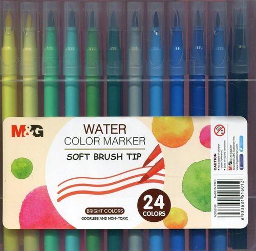 M&G Pisak artystyczny pędzelkowy 24 kolory