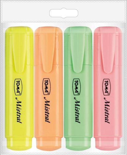 Toma Zakreślacz Mistral Pastel 4 kolory TOMA