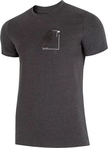 4f Koszulka męska H4L19 TSM003 ciemny szary melanż r. S