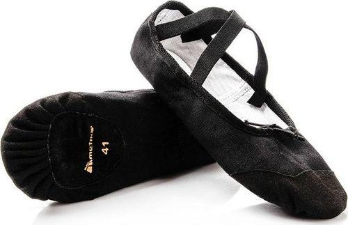 Meteor Baletki gimnastyczne bawełniano-skórzane Meteor czarne 42