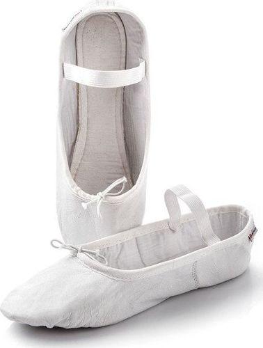 Meteor Baletki gimnastyczne skórzane Meteor białe 46