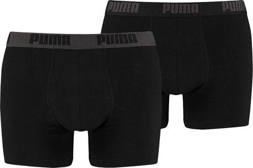 Puma Bokserki męskie Puma Basic Boxer 2P czarne 521015001 230 L