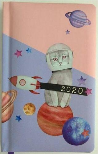 Albi KALENDARZ 2020 FUNNY ANIMALS A6 KOT ASTRONAUTA TNS 35949