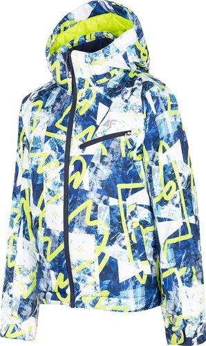 4f Kurtka narciarska dziecięca H4J19-JKUMN001A niebieska r. 146