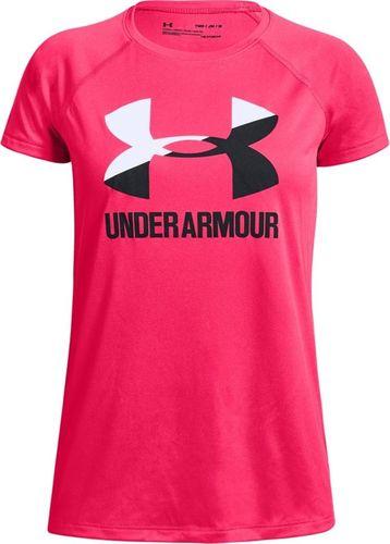 Under Armour Koszulka dziewczęca Big Logo Tee Solid Girls Ss różowa r. M-152 cm (1331678 975)