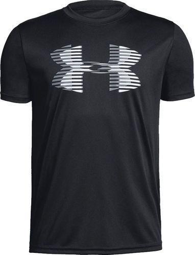 Under Armour Koszulka chłopięca Tech Big Logo Solid Tee Junior czarna r. L-152 cm (1331687 001)