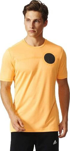 Adidas Koszulka męska Ufb Clmlt Tee pomarańczowa r. L (AJ9333)
