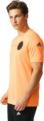 Adidas Koszulka męska Ufb Clmlt Tee pomarańczowa r. M (AJ9333)