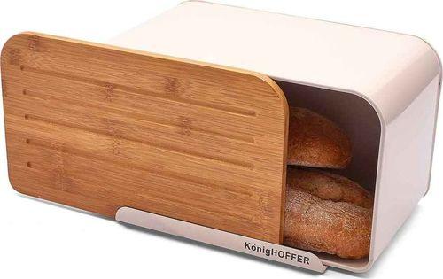 Chlebak Konighoffer bambusowo-stalowy z deską do krojenia