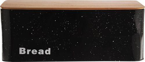 Chlebak Orion bambusowo-stalowy z deską do krojenia
