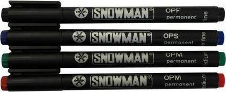 Snowman Foliopis średnia czerwony OPM
