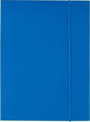 D.Rect Teczka kartonowa z gumką A4 niebieska