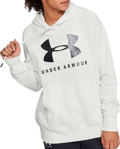 Under Armour Bluza damska Rival Fleece Sportstyle Graphic Hoodie biała r. S (1348550-112)