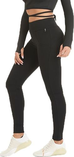 GymHero Legginsy damskie Push Up Black r. XS (PUSHUPBLK)