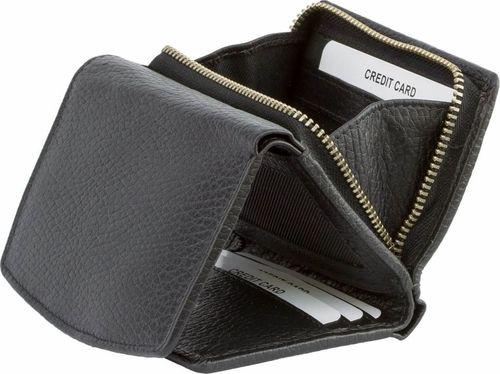 KORUMA Czarny damski portfel antyRFID - Koruma (KUK-10PBL) z Tap&Go™