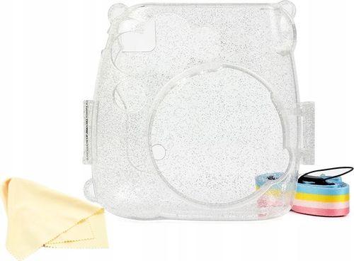 Pokrowiec LoveInstant Futerał Etui Pokrowiec Do Fujifilm Instax Mini 9 8 - Przezroczysty / Brokat
