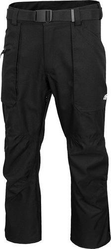 4f Spodnie męskie H4Z19 SPMN070 czarne r. L