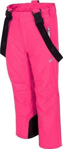 4f Spodnie dziecięce HJZ19-JSPDN001 różowe r. 152