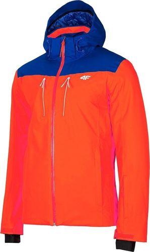 4f Kurtka narciarska męska H4Z19-KUMN009 pomarańczowa r. L