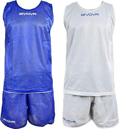 Givova Komplet Koszykarski Givova Double Niebiesko-Biały 2XS