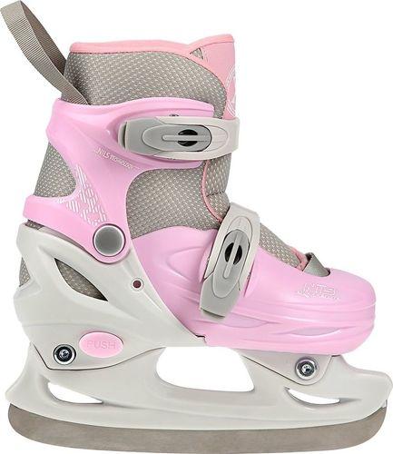 NILS Extreme Łyżwy regulowane hokejowe Nils Extreme NH11901 A różowo-szare rozmiar 34-37 uniwersalny