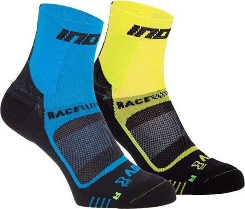 Inov-8 Skarpety inov-8 Race Elite Pro Sock. Niebiesko-żóto-czarne. Dwupak. 36 - 40