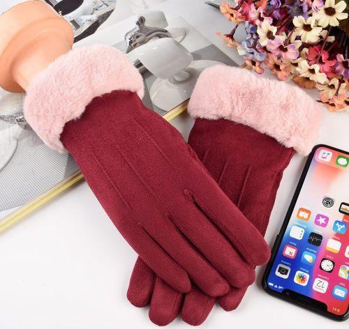 Baseus Uniwersalne rękawiczki na zimę do ekranów dotykowych różowy uniwersalny