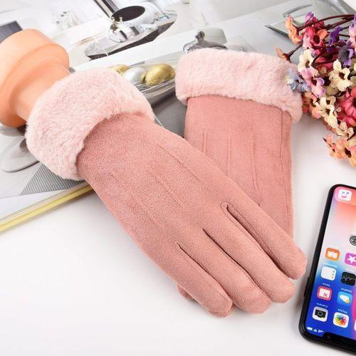 Baseus Uniwersalne rękawiczki na zimę do ekranów dotykowych jasnoróżowy uniwersalny