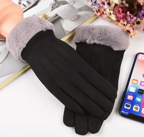 Baseus Uniwersalne rękawiczki na zimę do ekranów dotykowych biało-czarny uniwersalny