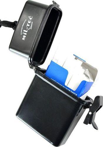 Mil-Tec Mil-Tec Pudełko Wodoszczelne na Papierosy Czarne uniwersalny