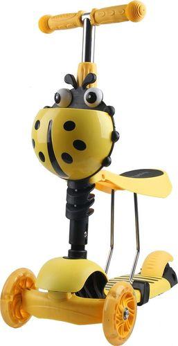 ENERO  Hulajnoga balansowa jeździk 3w1 biedronka żółta (1017686)