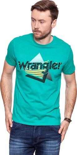 Wrangler Koszulka męska Logo Tee Spectra Green r. S (W7B62FQWB)