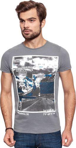 Wrangler Koszulka męska Rollin´ Tee Smoked Grey r. S (W7B08FG2T)