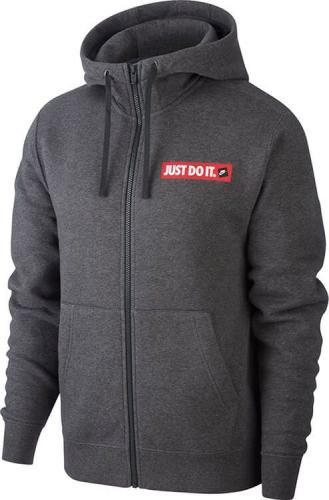 Nike Bluza męska Nsw Jdi Hoodie Fz Flc Bstr szara r. XL (BV5068-071)