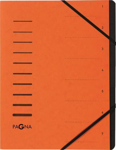 Pagna Teczka 7 Fächer 1-7 orange