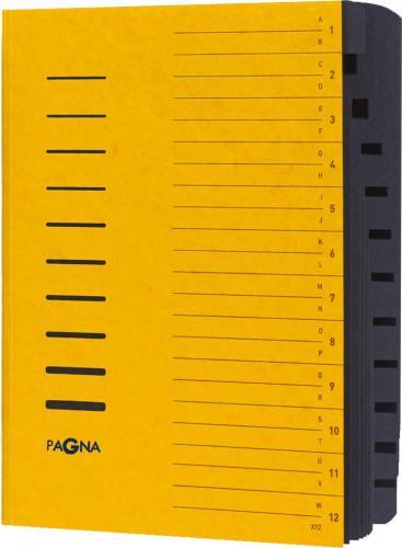 PAGNA Teczka  12 Fächer 1-12/A-Z gelb