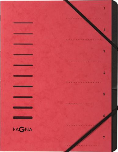 Pagna Teczka 7 Fächer 1-7 rot
