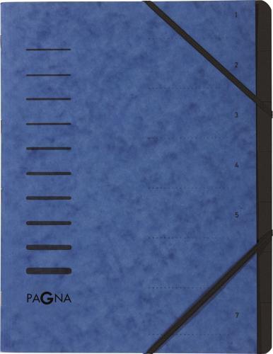 Pagna Teczka 7 Fächer 1-7 blau