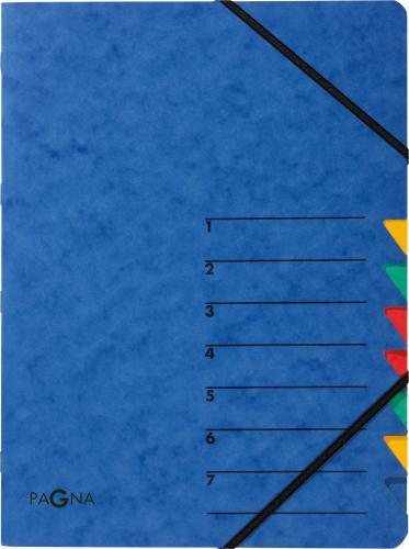 PAGNA Teczka Easy 7 Fächer 1-7 blau