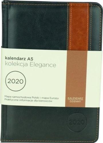 Astra Kalendarz 2020 A5 Elegance grafit/jasn. brąz ASTRA