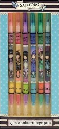 Santoro Zestaw 6 magicznych flamastrów zmieniających kolor