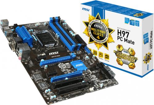 Płyta główna MSI H97 PC Mate s1150 H97 4DDR3 USB3/LAN ATX - H97 PC Mate